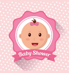 Baby shower boy and girl vector