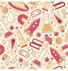 Back to school pattern science flat seamless vector