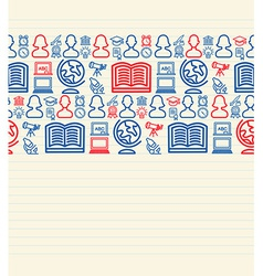 Back to School seamless pattern background vector image