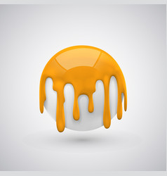 ball with paint drops orange vector image