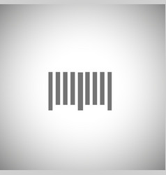 bar code icon simple bar code pictogram vector image