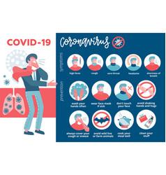 Big medical infographic coronavirus symptoms vector