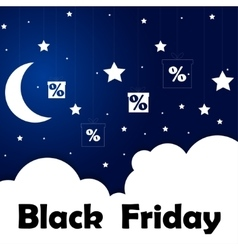 Black Friday Sale Moon and stars Eps 10 vector image