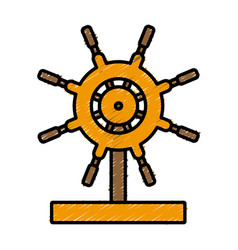 boat ship wheel vector image