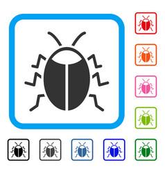 Bug framed icon vector