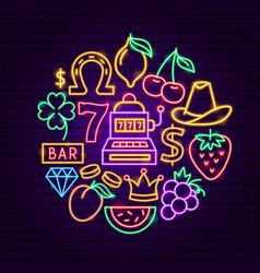 casino neon concept vector image