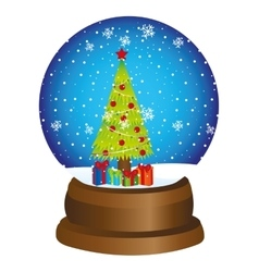 Christmas toy ball snow vector