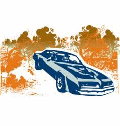 Classic car retro illustration vector