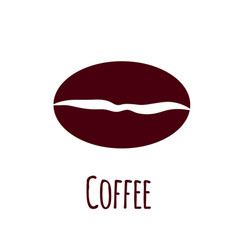 coffee bean icon simple flat vector image