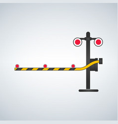Color railway traffic signal vector