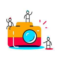 creative of people taking photo people vector image