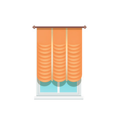 curtains and window decoration vector image
