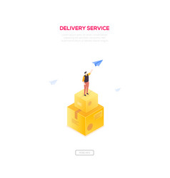 delivery service - modern isometric web vector image