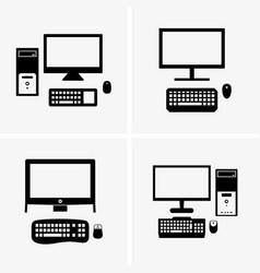 Desktop computers vector