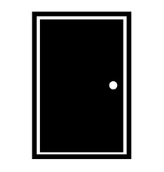 Door icon in trendy flat style on white vector