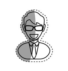 Executive businessman profile vector