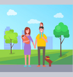 family parents and children vector image
