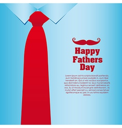 Fathers Day card a formal suit and tie close up vector