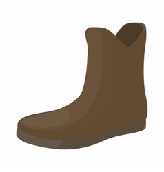 Female brown fashion boots icon cartoon style vector image