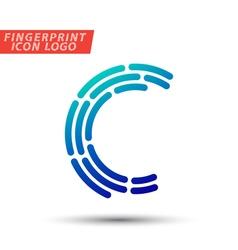 Fingerprint logo font 03 vector