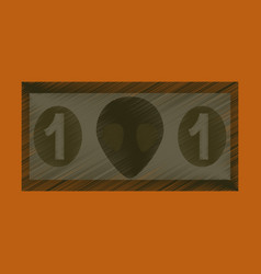 Flat shading style icon currency cash vector