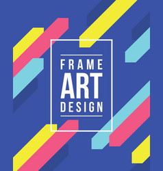 Frame art with blue background collection vector
