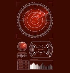 futuristic user interface hud tech elements vector image