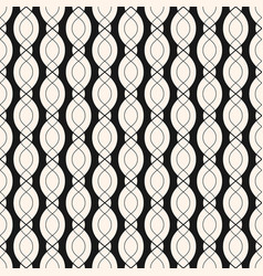 geometric seamless pattern with smooth wavy lines vector image