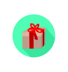 Gift icon isolated on a white background vector