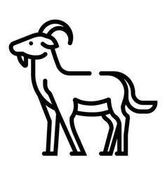 Goat line vector