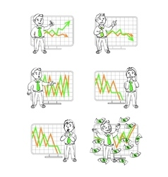 Graphics in Human emotions vector image vector image
