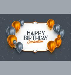 Happy birthday celebration premium style vector