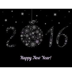 Happy new year 2016 decoration vector