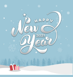 happy new year 2021 card vector image