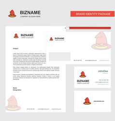 Hat business letterhead envelope and visiting vector