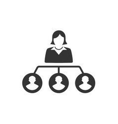 hierarchy employee structure icon vector image