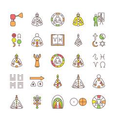 Human design rgb color icons set vector