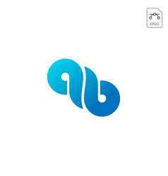 infinity logo icon or symbol isolated vector image