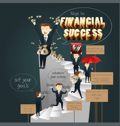 Infographic of ways to financial success vector