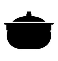 kitchen pot icon vector image