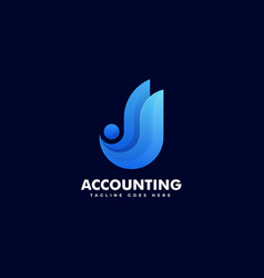 logo accounting gradient colorful style vector image