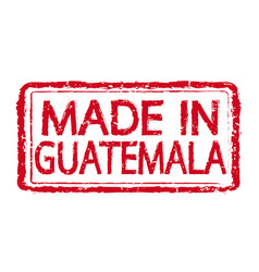 Made in guatemala stamp text vector