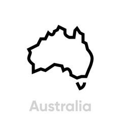 map australia icon editable line vector image