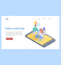 medical web site template online consultation vector image
