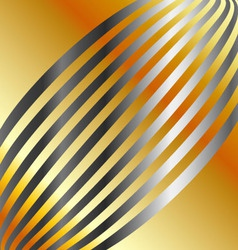 Metallic wave background vector