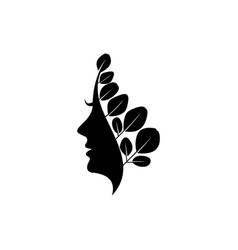 moringa logo design healthy logo beauty logo vector image