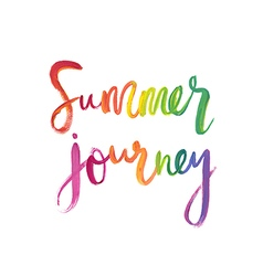 Motivation poster Summer journey vector