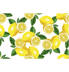 Nice lemon background hand drawn seamless vector
