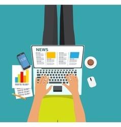 Online News Flat computing vector image
