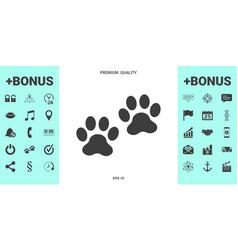 paws icon symbol vector image